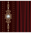 Gold jewelry on drape vector image