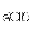 happy new year 2018 text design image vector image