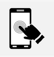 icon touch screen control technology vector image