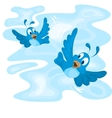 Two flying birds vector image