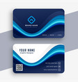 abstract modern blue business card template design vector image vector image
