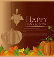 autumn background for thanksgiving day vector image vector image