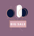 big super sale emblems in shape of round bomb vector image vector image