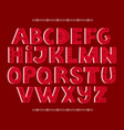 bold alphabet decorated with nordic folk ornaments vector image