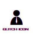 boss icon flat vector image vector image