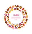 cakes banner template delicious desserts in vector image vector image