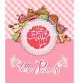 cakes card 380 vector image