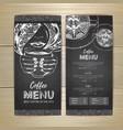 chalk drawing coffee menu design decorative vector image vector image
