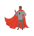 cheerful afro-american business man standing vector image vector image