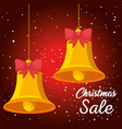 christmas sale banner background vector image