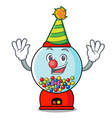 clown gumball machine mascot cartoon vector image vector image