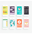 Collection of Mobile Phones vector image