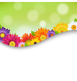 Colorful Gerbers Flowers Poster vector image vector image
