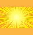 comic yellow sun rays background pop art retro vector image vector image