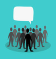 crowd speak concept vector image