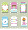 Cute creative cards vector image vector image
