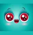 cute face monster for halloween mask vector image vector image