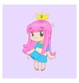 cute little girl cute princess vector image