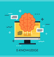 e-knowledge flat concept vector image