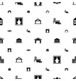 exterior icons pattern seamless white background vector image vector image
