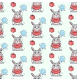 Funny Rabbits Seamless Pattern in Flat vector image vector image