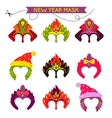 Gorgeus Set of colorful mask christmas monkey vector image vector image