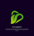Green play logo design concept nature play logo
