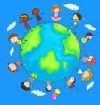 happy children around world vector image vector image