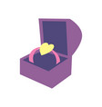 happy valentine day icon with wedding ring vector image vector image