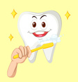 Healthy tooth with happy face vector image vector image