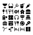 Hotel and Restaurant Icons 9 vector image vector image