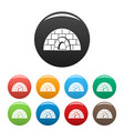 icehouse icons set color vector image