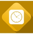 icon of Clock with a long shadow vector image vector image