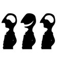 joke empty head silhouette vector image vector image