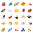 kitchener icons set isometric style vector image vector image