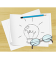 Lightbulb Idea Paper vector image