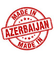 made in azerbaijan red grunge round stamp vector image vector image