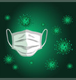 mask stopped coronavirus vector image vector image