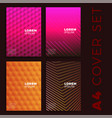 minimal covers design colorful future patterns vector image vector image