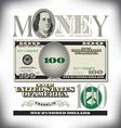 money 100 fade vector image vector image