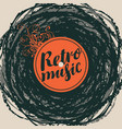 music banner on abstract background in retro style vector image vector image