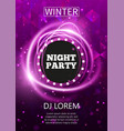 night party flyer template design new year party vector image