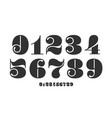 number font font numbers in classical french vector image vector image