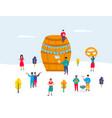 oktoberfest - german festival a huge barrel of vector image vector image