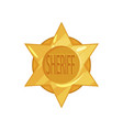 old west police golden circle star badge in vector image