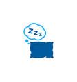 pillow sleep logo icon design vector image vector image
