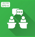 politic debate icon in flat style presidential vector image