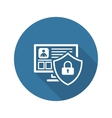Private Security Icon Flat Design vector image vector image