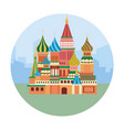 red square castle in moscow to travel adventure vector image