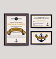sea wedding invitation templates vector image